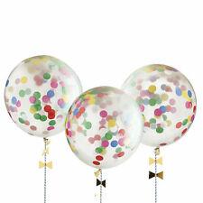 "NEW MERI MERI 8 X  BIG 18"" CONFETTI BALLOON PARTY KIDS MULTI"