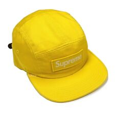 NWT Supreme NY Mustard Yellow Box Logo Washed Twill Camp Cap Hat FW18  AUTHENTIC 4eae3128786c