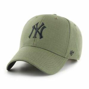 New York Yankees Cap MLB Baseball 47 Brand Kappe SNAPBACK Verschluß Khaki / Oliv