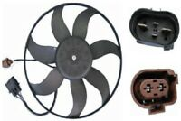 A/C Condenser Fan Assebly-Side Perfect Fit Cooling Fan Left Behr Hella 351039191