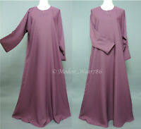 Dubai Abaya Classic Everyday Muslim Women Dress Nida Mauve