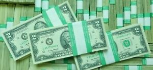 $2 - 100 Bills US Currency Real Money Two Dollar Notes Lot of 100 $2 Bills