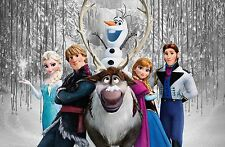 Frozen Group - 30x20 Inch Canvas Art - Disney Framed Picture Poster Art Work