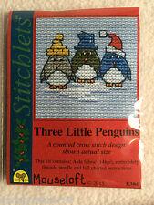 Mouseloft stitchlets Cross Stitch Kit ~ trois petits pingouins ~ ~ Noël Nouveau