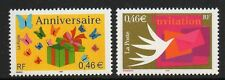 FRANCE SG3818/9 2002 GREETINGS STAMPS MNH