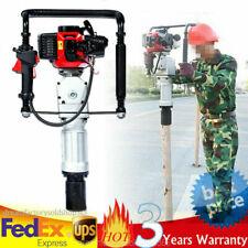 New listing 52Cc Gas Powered T Post Driver Pile Gasoline Engine Push Fence Farm 6500r/min Us