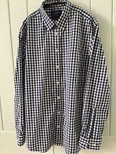 Charles Tyrwhitt para Hombre Camisa de cuadros blanco y azul marino, tamaño grande, extra Slim Fit
