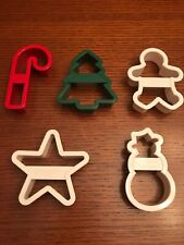 Fox Run Set of 5 Christmas Plastic Cookie Cutters-