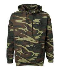 Mens Heavy Cotton Pullover Military Camo Camouflage Hoodie Pocket Sweatshirt