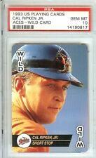 1993 us playing cards cal ripken jr psa 10 aces wild baseball card orioles