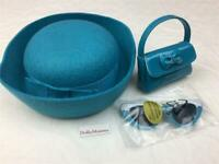 American Girl Melody's Accessories~Blue Hat~Sunglasses~Purse~never played with