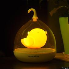 Birdcage Night Light Touch Sensor Baby Bedroom Sleeping Dream Lamp Kid Bird Lite