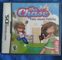 Nintendo DS THE CHASE FELIX MEETS FELICITY 2009 VIDEO GAME Case & Manual
