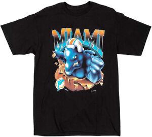 Miami Dolphins NFL Football T-Shirt Black Unisex Vintage Reprint All Size TK1545