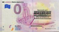 BILLET 0  EURO DE LISBOA PARA MAPUTO OPERACAO POR MOCAMBIQUE  2018 LES 3 BILLETS