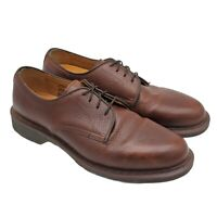 Dr Martens Octavius Leather Shoes Mens Size 10 Brown Oxford Lace Up Casual