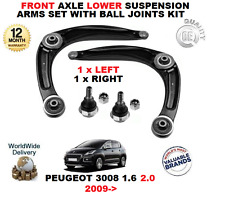 Per PEUGEOT 3008 1.6 2.0 2009 > FRONT LOWER SUSPENSION ARMS Set + Palla Kit Giunti