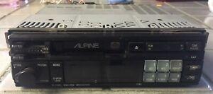 Vintage Alpine Car Stereo Unit 7293 Cassette Player Tape Deck AM/FM Radio