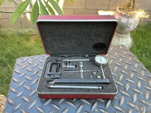 Starrett No.196 Universal Dial Test Indicator Set  .001'' With Case
