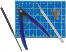 Plastikmodellbau Werkzeug Set 10-teilig, Skallpell, Feile Donau Elektronik Hobby