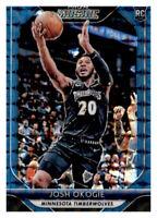 2018-19 Prizm Mosaic Blue Holo Josh Okogie Timberwolves #47 RC Rookie Parallel