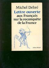 Lettre Ouverte Aux Francais Sur La Reconquete De La France - M. Debré