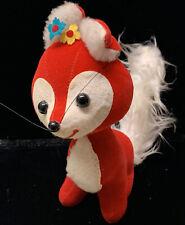 Vintage Dream Pets R. Dakin Plush Stuffed Rare Fox With Flowers Japan California