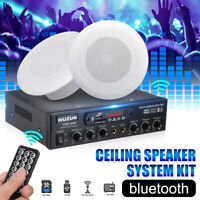 Stereo Amplifier Ceiling bluetooth Speaker System Kit  Flush Mount for Home Cafe