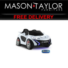 Mason Taylor Kid's Electric Ride on Car McLaren Style - White RCAR-MACLAREN-WH