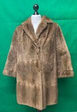 Impresionante para mujer Abrigo de piel de visón real Inmaculada UK 14 Vintage Rápido Post