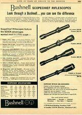 1963 Print Ad of Bushnell Scopechief Riflescope Seven Advantages Rifle Scope