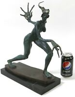 Hand Made Rare Unique Woman Monster Limited Numbered Bronze Sculpture Lost Wax