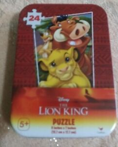 New  Disney lion king 24 peice puzzle t in collector tin