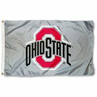 NEW Ohio State Buckeyes OSU University Large Gray College Flag FREE SHIPPING