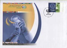 Bund 2521 auf Philatelistischem Brief zur Fußball-WM 2006 + Infoblatt (B07919)