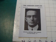 CHECK It Out-- ARKHAM SAMPLER vol III #3 c. 1985, 28pgs LOVECRAFT related