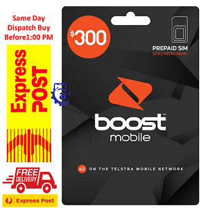 Boost Mobile $300 Prepaid SIM Starter Kit  240GB DATA 365 Days Express Shipping