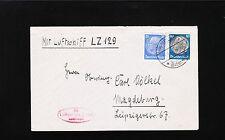 Germany Zepplin Domestic Flight Friedrichshafen - Magdeburg 1936 Cover Insert 9u