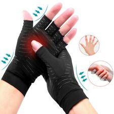 Guanto supporto mano aiuto artrite senza dita anti-scivolo elastico tessuto rame