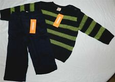 Pant Sweater Set Gymboree 2pc Gray Navy Fall Winter Boy size 18-24 mo New