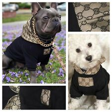 Designer Fashion Gold Hoodie Puppy Dog Coat Pet Style Small Medium Large XXL