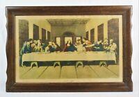 Rare Antique Lyday Photogravure Lithograph Print of Last Supper Jesus Christ