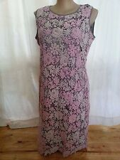 Soft PINK petal hem Floral Lace over grey spring carnival Tea Party DRESS 20