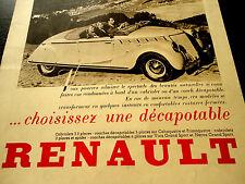 RENAULT Cabriolet Viva Grand Sport French advertisement L'Illustration 1937