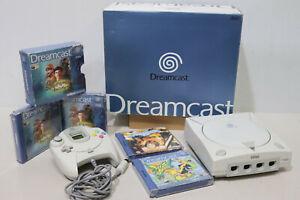 Original Vtg SEGA Dreamcast Console Boxed With 3 Games Shenmue Soul Calibur -232
