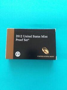 2012  U. S. MINT PROOF 14-COIN SET, ORIGINAL MINT PACKAGING W/COA,