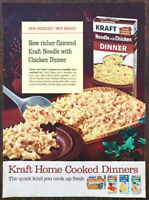 1965 Kraft Noodle with Chicken Dinner PRINT AD Kraft Home Cooked Dinners