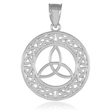 Round Trinity Pendant 925 Sterling Silver Rhodium Plated Tarnish Allergy-Free