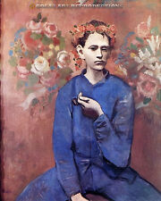 """""""Boy with a Pipe"""" Pablo Picasso Reproduction in Oil, 40""""x33"""""""