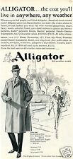 1960 Print Ad of Alligator All Weather Coats